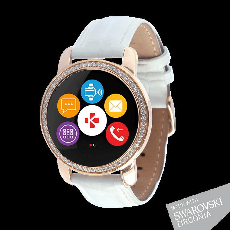 ZeCircle2 Swarovski Zirconia - Elégant tracker d'activité avec paiement sans contact NFC* - MyKronoz