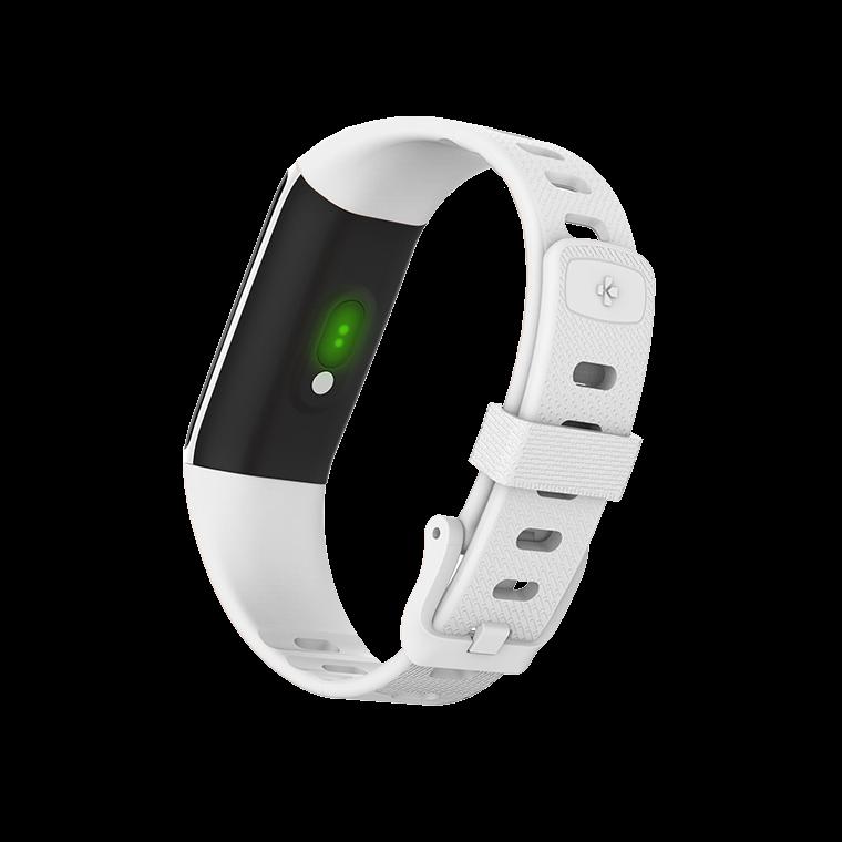 ZeTrack+ - Tracker d'activité ultra-fin et complet avec capteurs de fréquence cardiaque et de température corporelle - MyKronoz