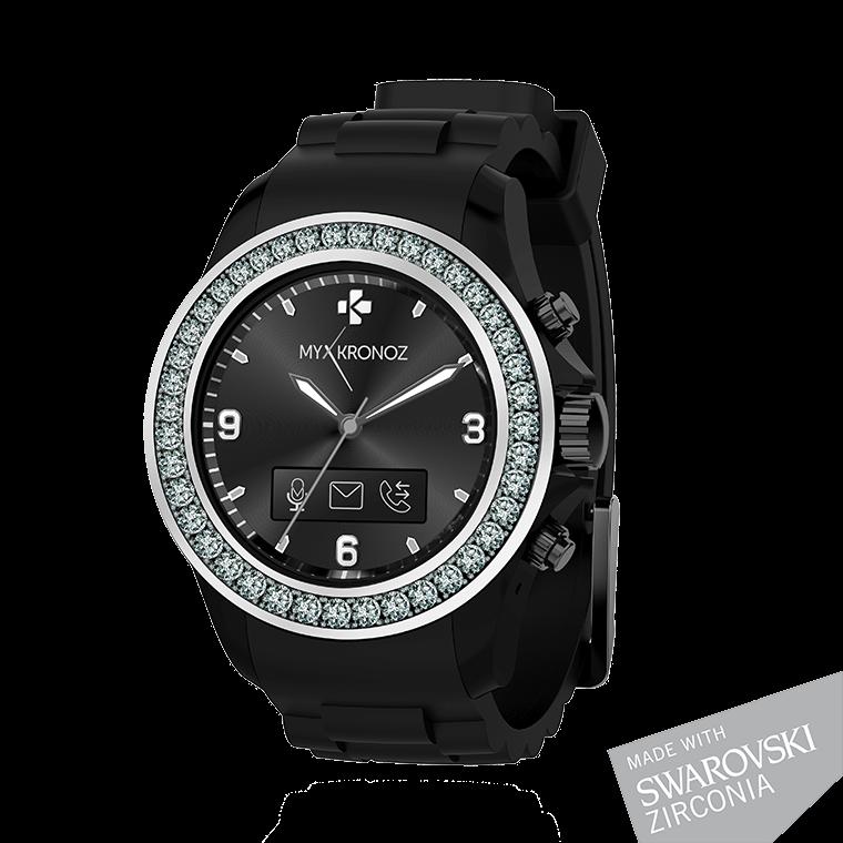 ZeClock - Swarovski Zirconia - Elégante montre connectée analogique avec mouvement à quartz - MyKronoz