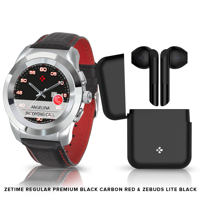 ZeTime Premium & ZeBuds - Our Premium hybrid smartwatch and new TWS Wireless Earbuds - MyKronoz