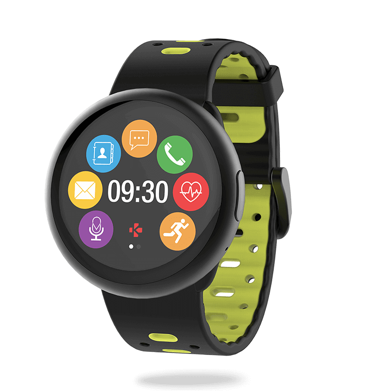 ZeRound2HR Premium - Smartwatch with circular color touchscreen and heart-rate monitor - MyKronoz