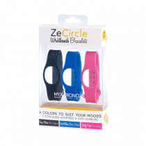 ZeCircle Armbänder x3 - Tragen Sie jeden Tag eine andere Farbe - MyKronoz