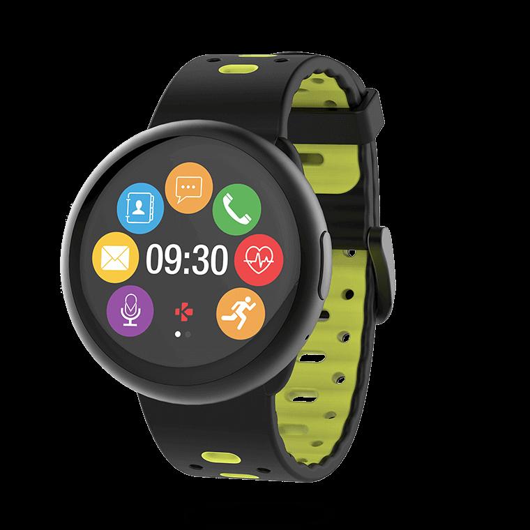 ZeRound2HR Premium - Smartwatch mit Rundem Touchscreen und Herzfrequenzsensor - MyKronoz
