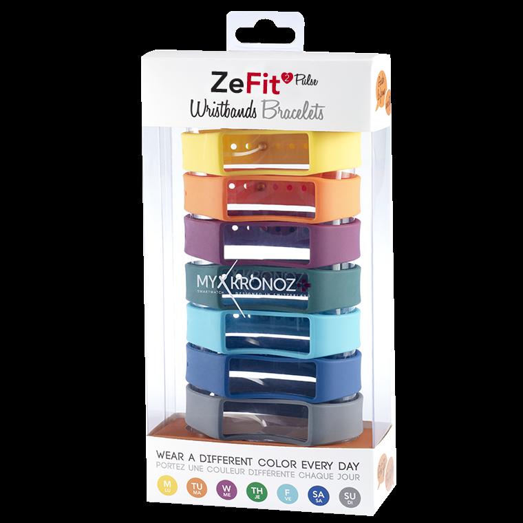 ZeFit2Pulse 七条装表带套装 - 颜色天天换 - MyKronoz