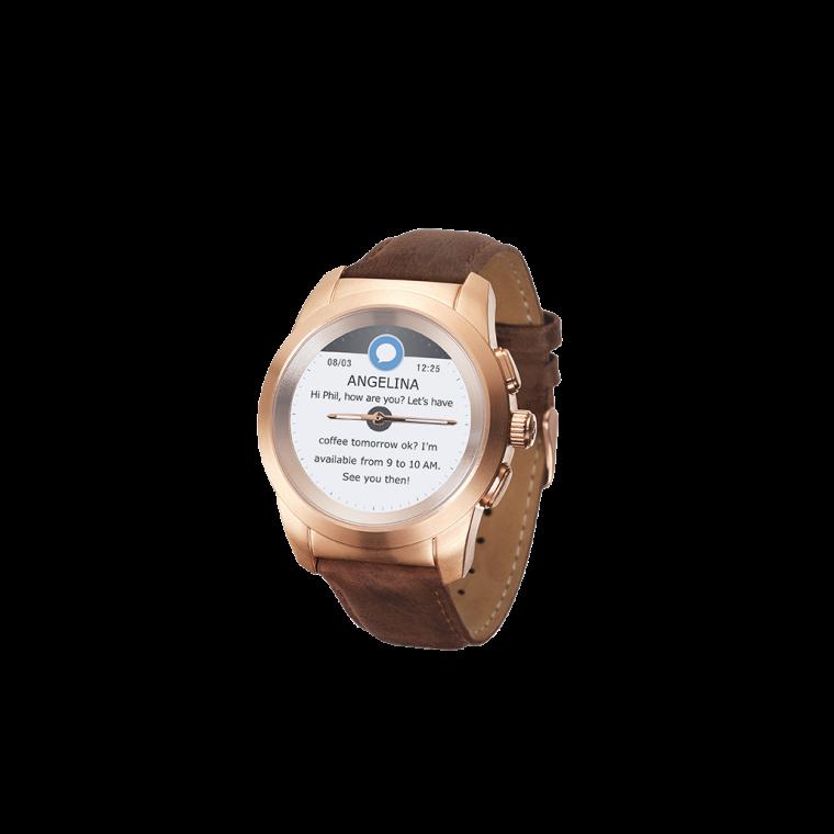 ZeTime Premium - 全球首款完美融合全彩触摸屏与机械表针的混合型智能手表 - MyKronoz
