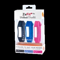 ZeFit<sup>2Pulse</sup> Bracelets x3 - Portez une couleur différente chaque jour - MyKronoz