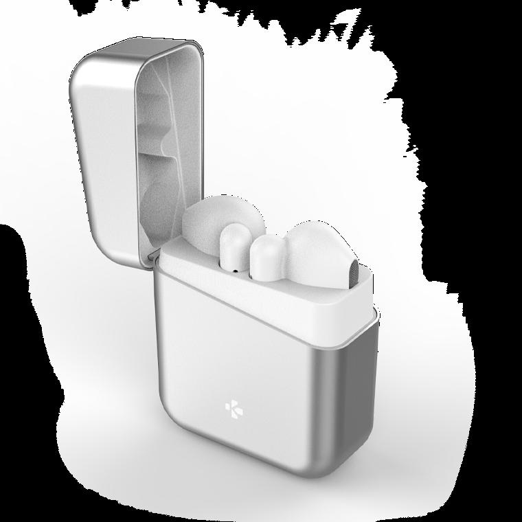ZeBuds Premium - ZeBuds Premium - Écouteurs sans fil TWS avec boîtier de charge en aluminium - MyKronoz
