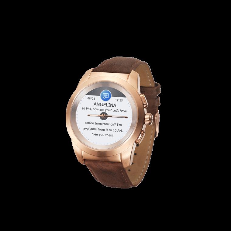 ZeTime Premium - La première montre connectée hybride au monde alliant aiguilles mécaniques et écran couleur tactile - MyKronoz
