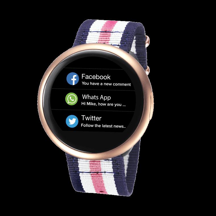 ZeRound2HR Premium - Smartwatch elegante con touchscreen circolare e sensore cardiofrequenzimetro - MyKronoz