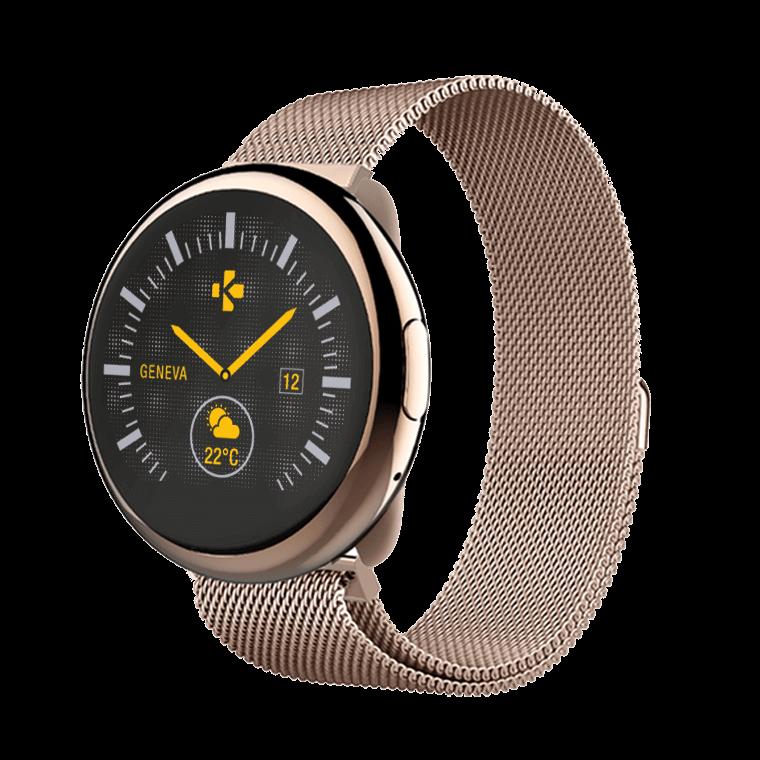 ZeRound2HR Elite - Elegante Smartwatch con schermo al tocco circolare a colori e monitoraggio del battito cardiaco  - MyKronoz
