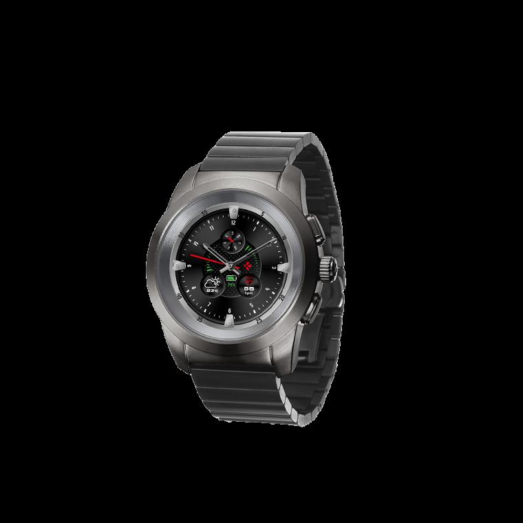 ZeTime Elite - Die weltweit erste hybride Smartwatch mit mechanischen Zeigern und rundem Farbtouchscreen - MyKronoz