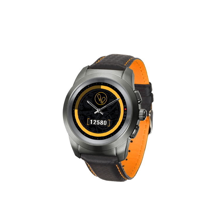 ZeTime Premium - Die weltweit erste hybride Smartwatch mit mechanischen Zeigern und rundem Farbtouchscreen - MyKronoz