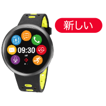 ZeRound<sup>2HR Premium</sup> - 円形カラータッチスクリーンと心拍数モニター付きスマートウォッチ - MyKronoz