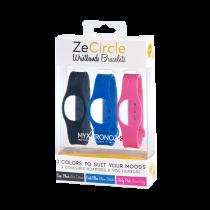 ZeCircle Wristbands x3 - 毎日違う色でスタイリング可能 - MyKronoz