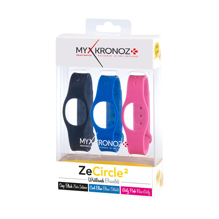 ZeCircle2 Wristbands x3 - 毎日違う色でスタイリング可能 - MyKronoz
