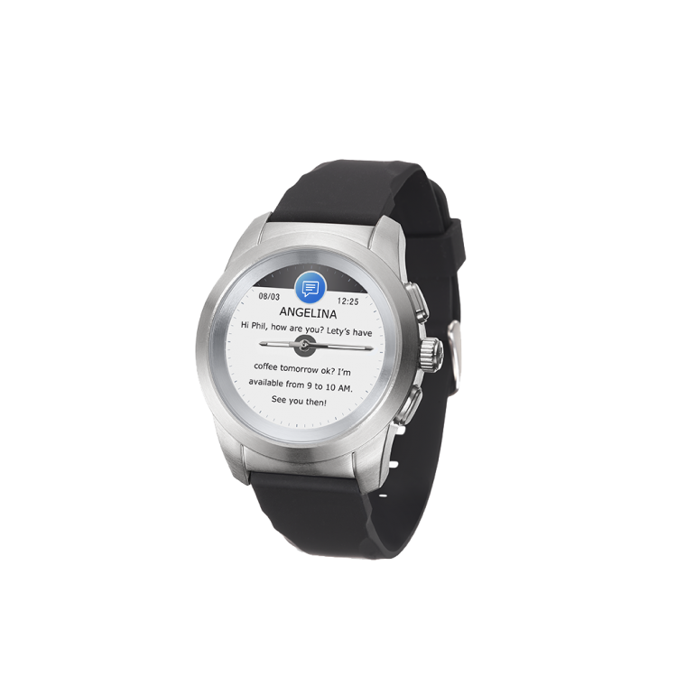 ZeTime - 世界初のハイブリッドスマートウォッチ時計本来の針とカラータッチスクリーン - MyKronoz