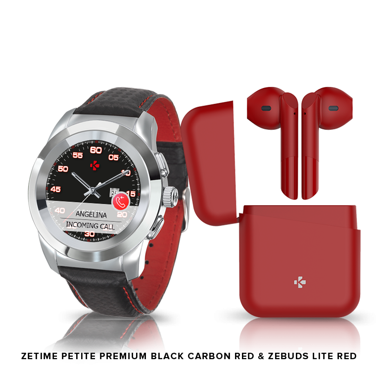 ZeTime Premium & ZeBuds - Our Premium hybrid smartwatch and new TWS Wireless Earbuds - MyKronoz