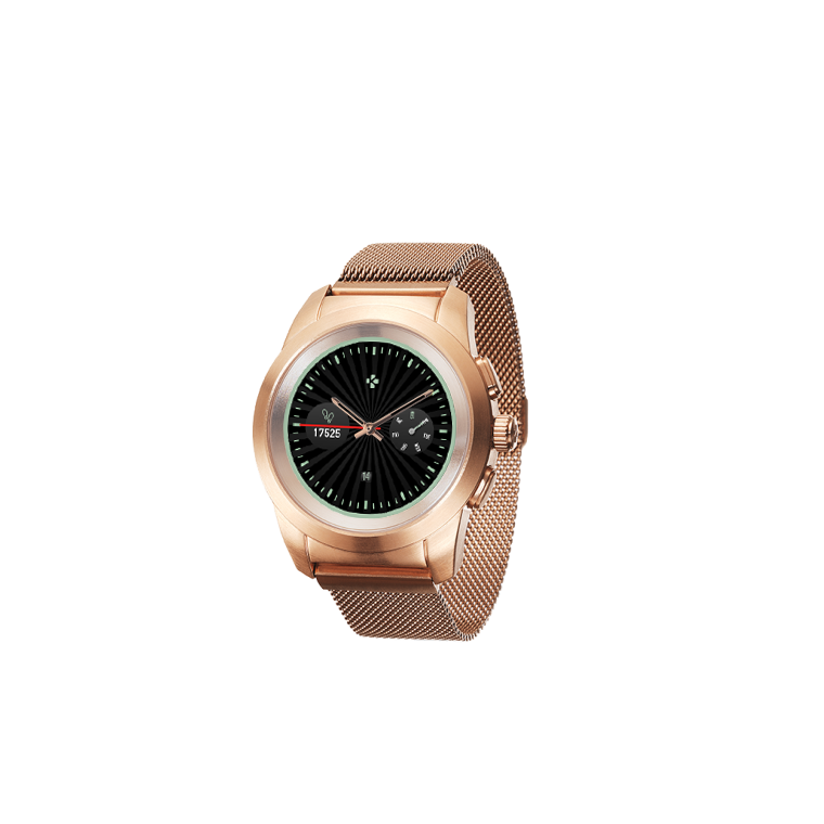 ZeTime Elite - The world's first hybrid smartwatch combining mechanical hands with a full round color touchscreen - MyKronoz