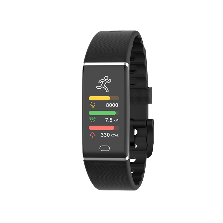 ZeTrack+ - Slim and full-featured activity tracker with heart rate and body temperature sensors  - MyKronoz