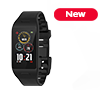 Rectangular activity tracker with color touch screen and smart notifications