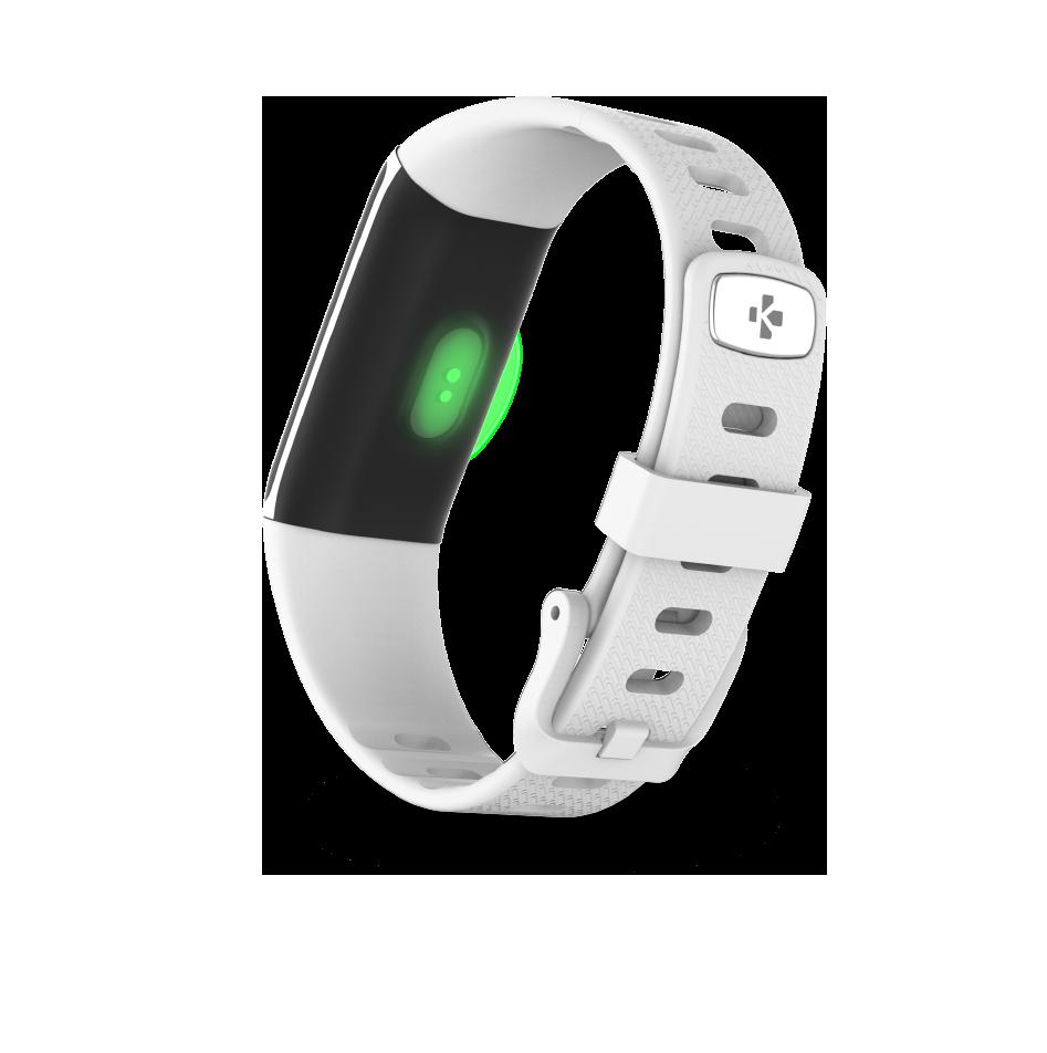 Tracker d'activité avec capteur cardiaque optique