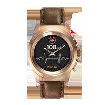 ZeTime, die weltweit erste hybride Smartwatch mit mechanischen Zeigern und rundem Farbtouchscreen