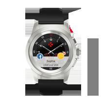 世界首款混合型智能手表 传统手表指针搭配彩色触摸屏